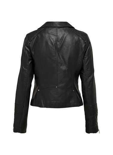 Only Deri Ceket Gemma Faux Biker 15153079-Blk Siyah